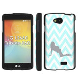 LG Tribute LS660 F60 Transpyre Slim Case  - Chevron Blue Girl
