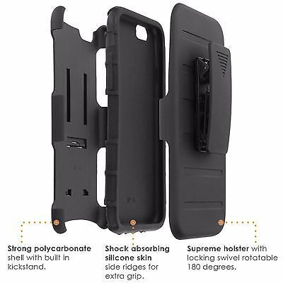 iPhone [6/6S]  Armor Phone Case [Holster] [Screen Protector] - Animal