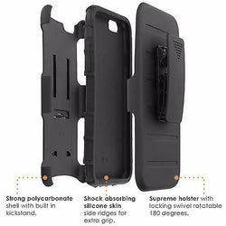iPhone [6/6S]  Armor Phone Case [Holster] [Screen Protector] - Baseball