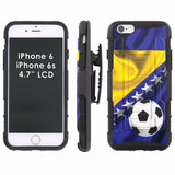 iPhone [6/6S]  Armor Phone Case [Holster] [Screen Protector] - World Cup