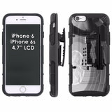 iPhone [6/6S]  Armor Phone Case [Holster] [Screen Protector] - Art