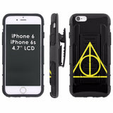 iPhone [6/6S]  Armor Phone Case [Holster] [Screen Protector] - Logo