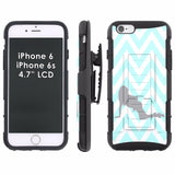 iPhone [6/6S]  Armor Phone Case [Holster] [Screen Protector] - Print