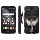 LG Stylo [2 PLUS] Dual Armor Case [Holster] [Screen Protector] - Animal