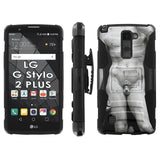 LG Stylo [2 PLUS] Dual Armor Case [Holster] [Screen Protector] - Art2
