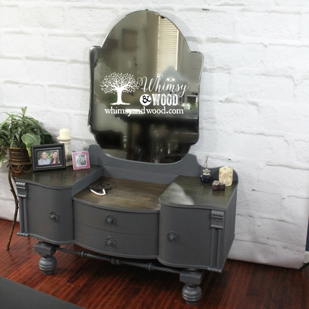 Painted Vintage Vanity Update