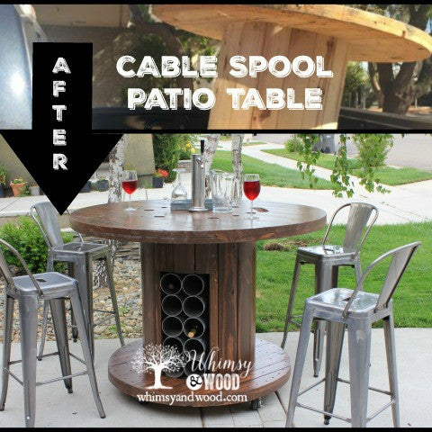 Industrial Cable Reel Patio Set