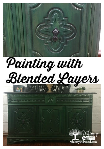 Blending paint layers on furniture.