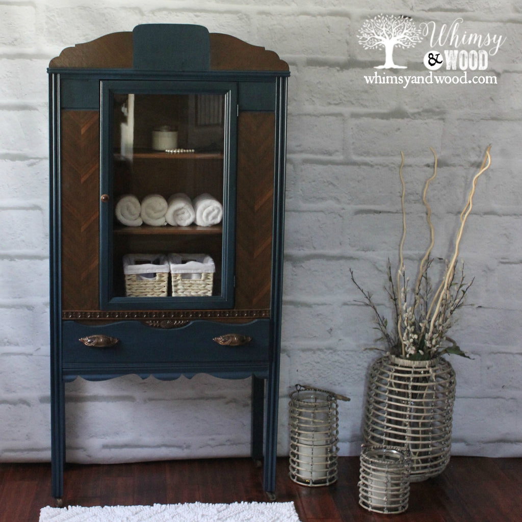 Art Deco Painted Hutch