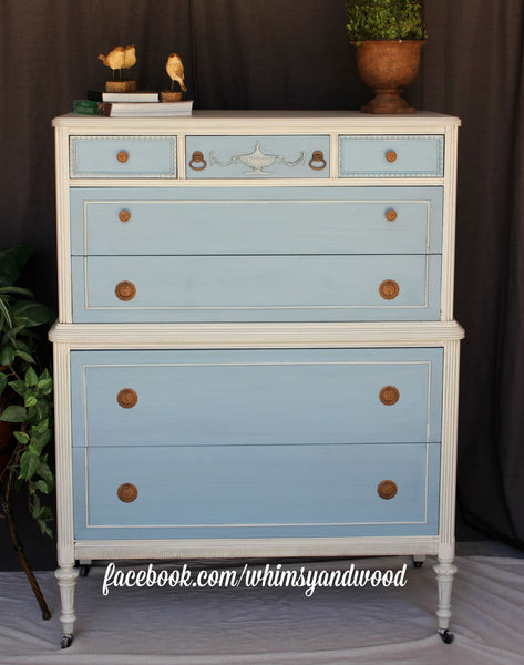 **SOLD** Darling, Tall, Vintage Dresser