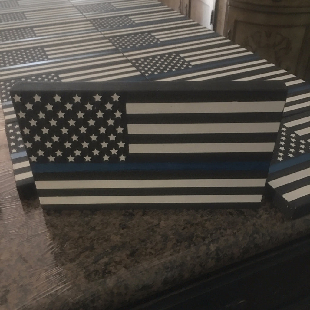 Thin Blue/Red Line Flag, Police & Fire Dept.3 sizes available