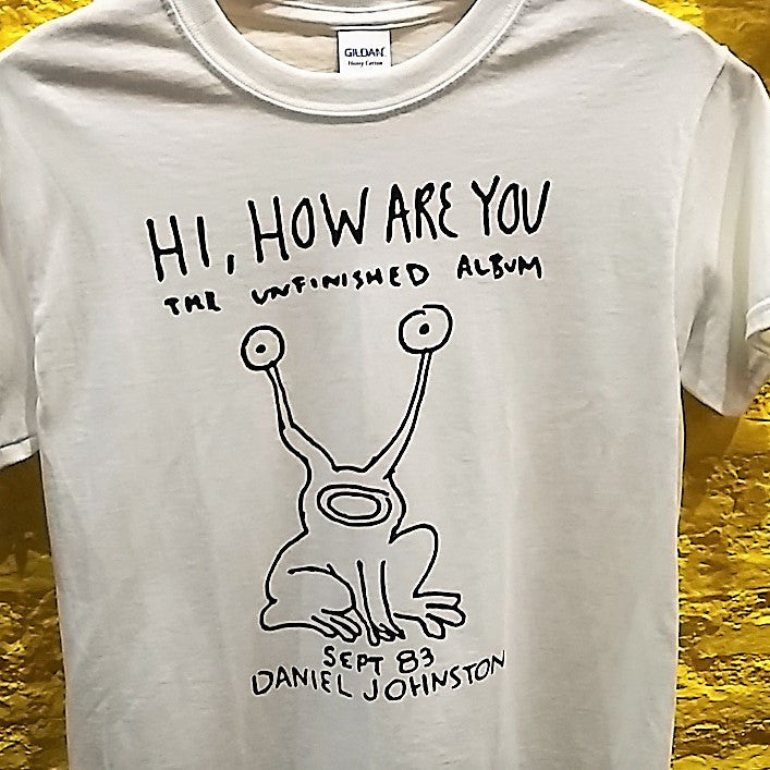 "DANIEL JOHNSTON - ""Hi, how are you"" logo T-SHIRT *** ALL SIZES AVAILABLE ***"