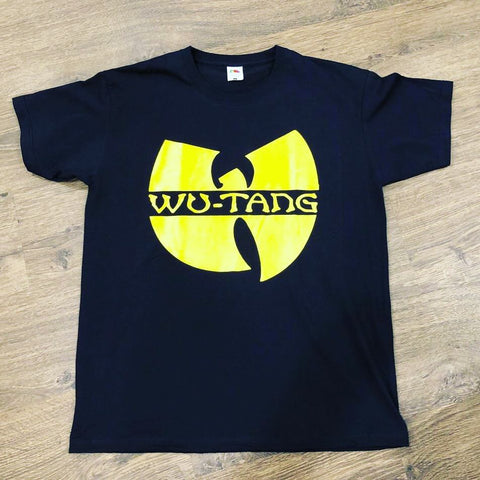 WU-TANG CLAN LOGO T-SHIRT BLACK  *** ALL SIZES AVAILABLE ***
