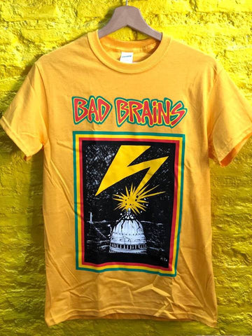 BAD BRAINS - Capitol LOGO T-SHIRT yellow  *** ALL SIZES AVAILABLE ***