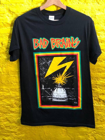 BAD BRAINS - Capitol LOGO T-SHIRT black  *** ALL SIZES AVAILABLE ***