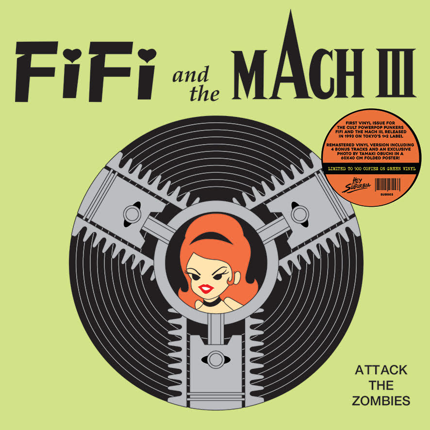 FIFI AND THE MACH 3 - ATTACK THE ZOMBIES (LP, Album, RE, GREEN VINYL) - NEW