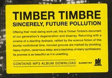 Timber Timbre - Sincerely, Future Pollution (LP, Album) - NEW
