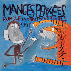 "The Manges / Peawees - Rumble In The Cement Jungle (7"") - USED"