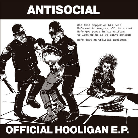 "Antisocial (3) - Official Hooligan E.P. (7"", EP, RE) - NEW"