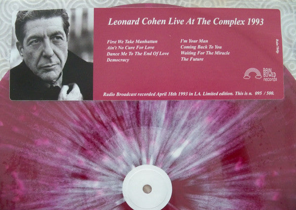 Leonard Cohen - Live at The Complex 1993 (LP, RE, Unofficial) - NEW