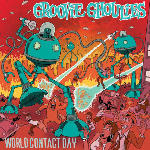 Groovie Ghoulies - World Contact Day (LP, Album, RE, Red) - USED