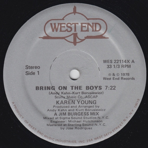 "Karen Young - Bring On The Boys (12"", Single) - USED"