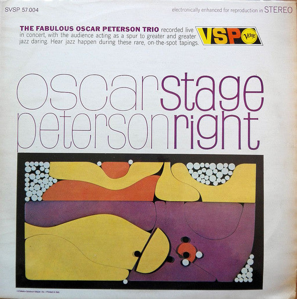 The Fabulous Oscar Peterson Trio* - Stage Right (LP, Comp) - USED