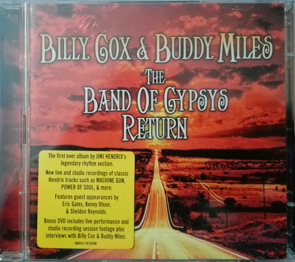 Billy Cox & Buddy Miles - The Band Of Gypsys Return (CD, Album + DVD-V, 0 R) - USED