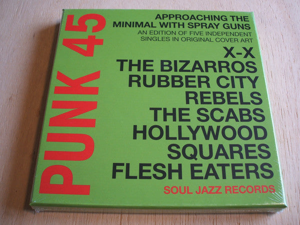 "Various - Punk 45 : Approaching The Minimal With Spray Guns  (5x7"", Comp, Ltd, Box) - NEW"