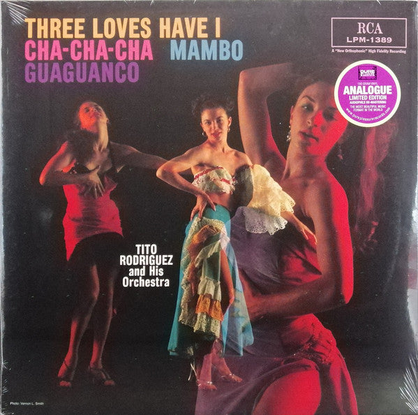 Tito Rodriguez & His Orchestra - Three Loves Have I : Cha-Cha-Cha-Mambo-Guaguanco (LP, Ltd, RE, RM, 180) - USED