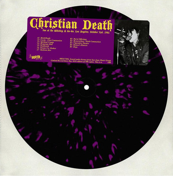 Christian Death - Live At The Whisky A Go Go, Los Angeles, October 31st, 1981 (LP, Ltd, Num, Spl) - NEW