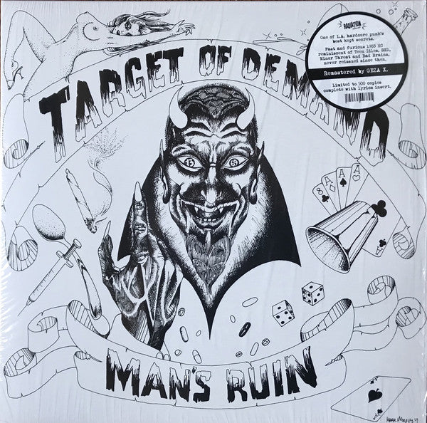 Target Of Demand (2) - Man's Ruin (LP, Album, Ltd, RE, RM, Whi) - NEW