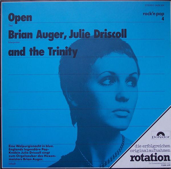 Brian Auger, Julie Driscoll  And The Trinity* - Open (LP, Album, RE) - USED