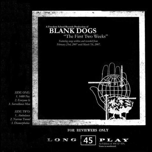 "Blank Dogs - The First Two Weeks (12"", EP, Ltd, Bla) - USED"