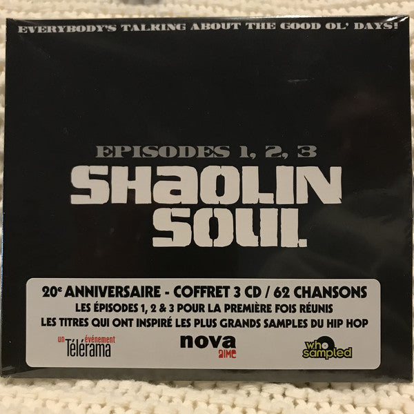Various - Shaolin Soul (Episodes 1, 2, 3) (3xCD, Comp, RM) - NEW