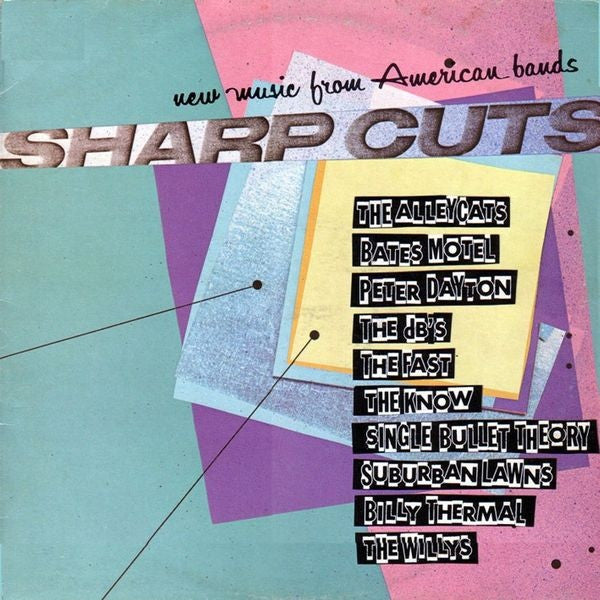 Various - Sharp Cuts - New Music From American Bands (LP, Comp) - USED