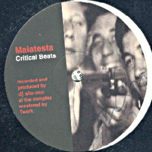 "Malatesta - Critical Beats (12"", EP) - USED"
