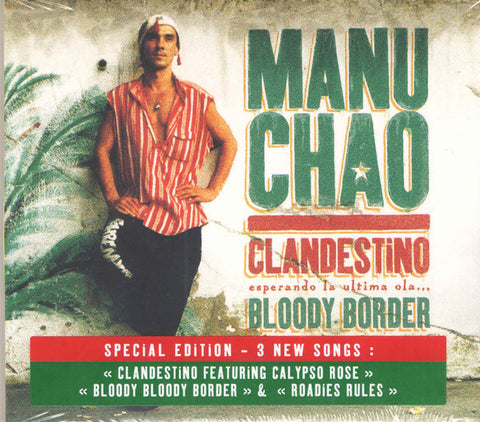 Manu Chao - Clandestino / Bloody Border (CD, Album, RE, S/Edition) - NEW