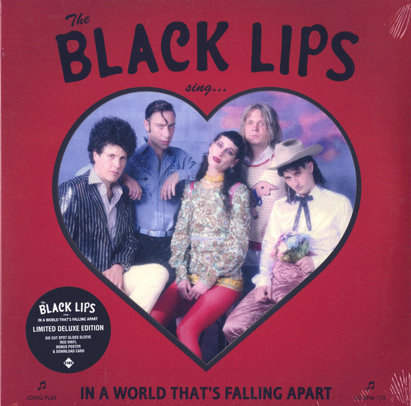 The Black Lips - In A World That's Falling Apart (LP, Album, Dlx, Ltd, Red) - NEW