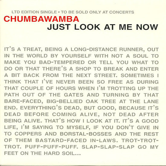 "Chumbawamba - Just Look At Me Now (7"", Single, Ltd) - USED"
