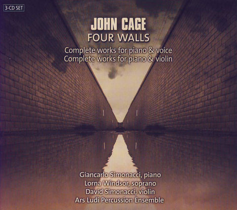 John Cage - Giancarlo Simonacci, Lorna Windsor, David Simonacci, Ars Ludi Percussion Ensemble* - Four Walls - Complete Works For Piano & Voice / Complete Works For Piano & Violin (3xCD, Album) - NEW