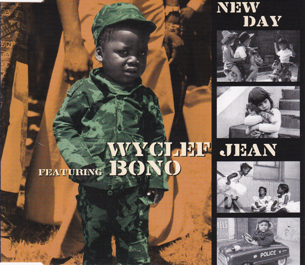 Wyclef Jean Featuring Bono - New Day (CD, Single) - USED