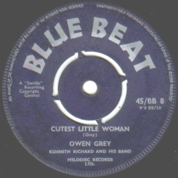 "Owen Gray, Kenneth Richard And His Band* - Cutest Little Woman / Running Around (7"", Single) - USED"