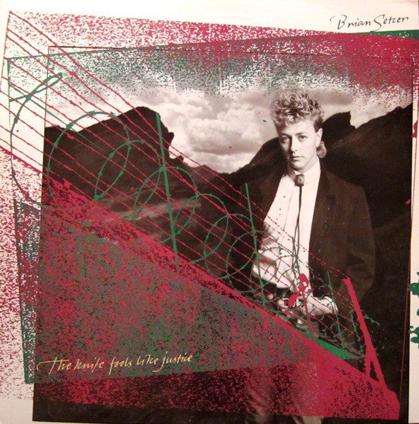 Brian Setzer - The Knife Feels Like Justice (LP, Album) - USED