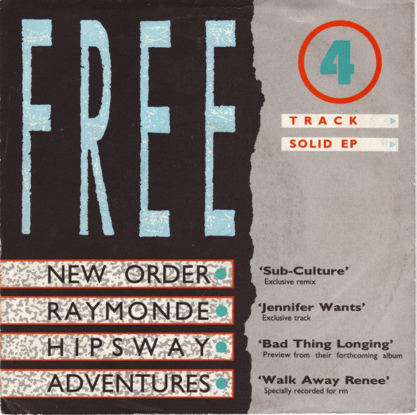 "Various - Free 4 Track Solid EP (7"", EP, Comp) - USED"