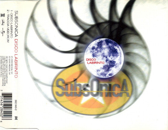 Subsonica - Disco Labirinto (CD, Single, Enh) - USED