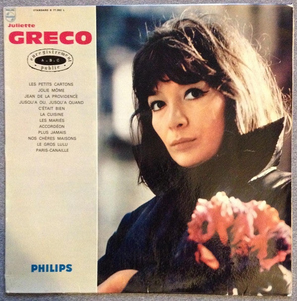 Juliette Gréco - Enregistrement Public À L'A.B.C. (LP, Album) - NEW
