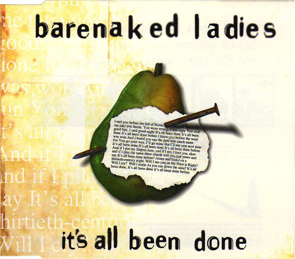 Barenaked Ladies - It's All Been Done (CD, Single) - USED