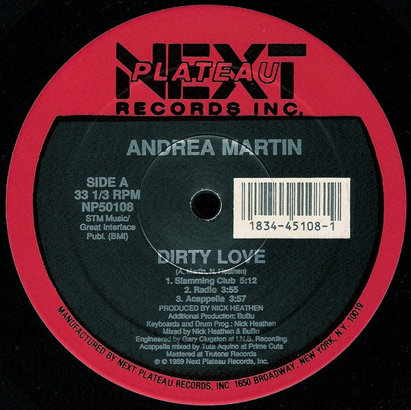 "Andrea Martin - Dirty Love (12"") - NEW"