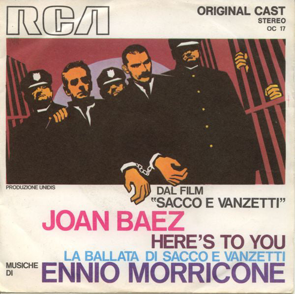 "Joan Baez - Ennio Morricone - Here's To You / La Ballata Di Sacco E Vanzetti (7"", Single) - USED"